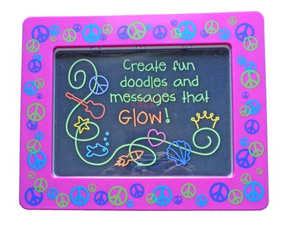 Light Up Glow Doodle Board Purple Picture Frame