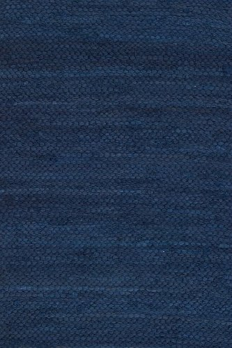 Prairie Rugs Cotton Area Rugs Cobalt Blue 6 x 9 Foot