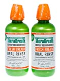 TheraBreath Dentist Recommended Fresh Breath Oral Rinse - Mild Mint Flavor, 16 Ounce (Pack of 2)