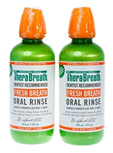 Dr. Katz TheraBreath Oral Rinse, Mild Mint, 16-Ounce Bottles (Pack of 2)