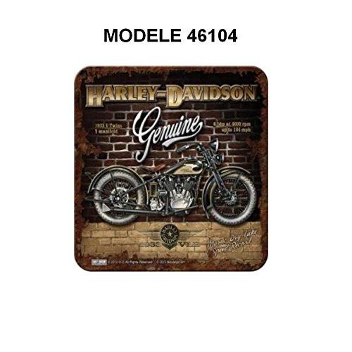 Sous verre Harley Davidson moto 1983