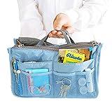 MiCoolker Korean Version Double Zipper Storage Bag Multifunctional Cosmetic Bag Makeup Make up Bag Travel Bag for Men and Women