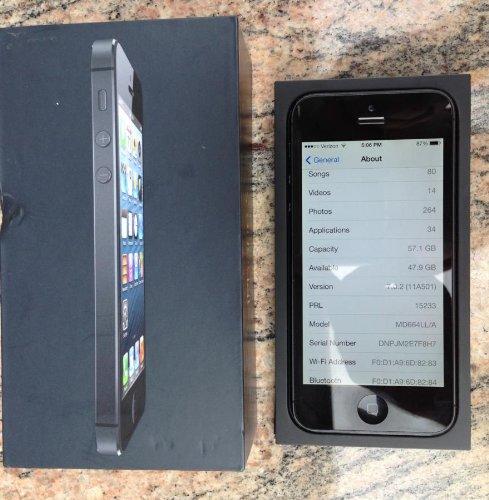 Apple Ipone 5 64 Gb Unlocked Black