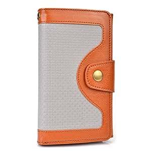 Cooper Cases(TM) Tatami Universal BLU Dash 5.0, Vivo IV/Air/Selfie, Win HD/LTE Smartphone Wallet Case in Brown (Woven Pattern, Screen Protector, Card Slots, ID Holder, Billfold)