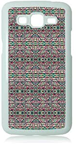 Pink Turquoise Tribal Pattern White Back Cover Case for Samsung Galaxy Grand 2 G7106