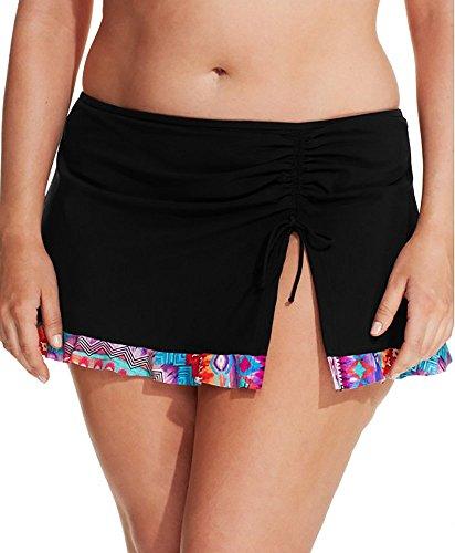Profile by Gottex Plus Size Printed-Hem Swim Skirt Bottom (24W, Black) (Gottex Profile Swim Bottom compare prices)
