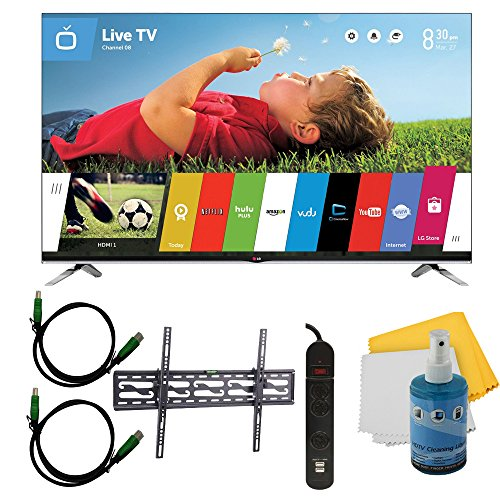 """55""""1080P 240Hz 3D Led Smart Hdtv Webos Plus Tilt Mount Hook-Up Bundle (55Lb7200). Bundle Includes Tv, Tilting Tv Mount, 3 Outlet Surge Protector W/ 2 Usb Ports, 2 -6 Ft High Speed Hdmi Cables, Performance Tv/Lcd Screen Cleaning Kit, And Cleaning Cloth."""