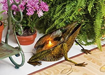 Cape Craftsmen Glass and Metal Frog Lamp