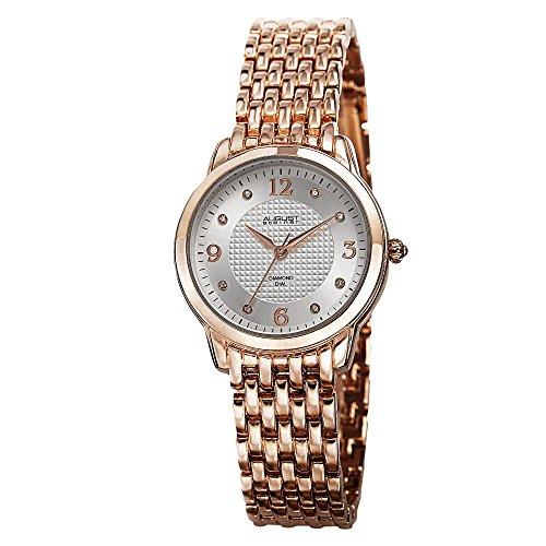 August Steiner AS8171RG Women's Dazzling Diamond Swiss Quartz 2 Watch Set august heat