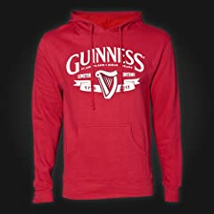 Guinness Hoodie Ladies - Red - Harp