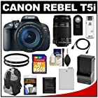 Canon EOS Rebel T5i Digital SLR Camera & EF-S 18-135mm IS STM Lens with EF-S 55-250mm IS Lens + 32GB Card + Battery + Backpack + Filters + Accessory Kit