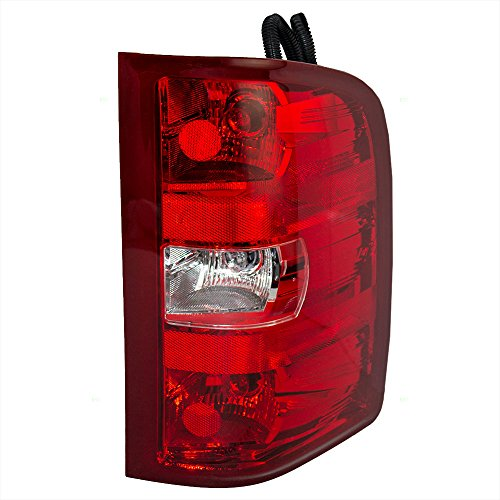 Passengers Taillight Tail Lamp Lens Replacement for Chevrolet GMC Pickup Truck 25958483 (2008 Silverado Taillights compare prices)