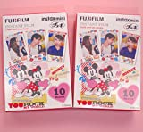 Fujifilm Instax Mini Instant Film Disney MICKEY & Friends 2 Packs (20 Sheets) [Komainu-Dou Original Packege]