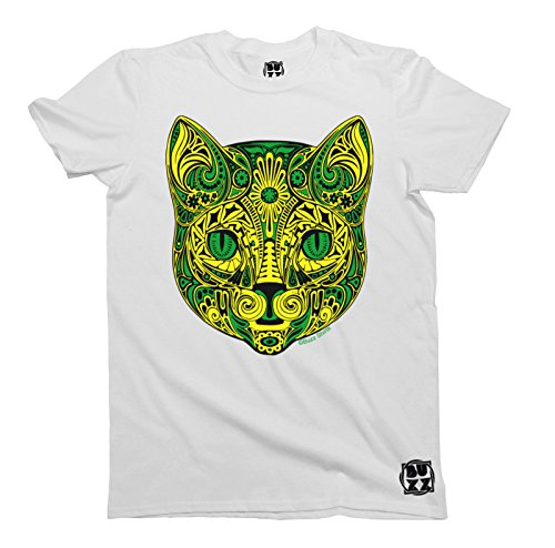 Tribal Flower CAT T-Shirt Uomo e Donne Camiseta Unisex Mens Ladies HIPSTER