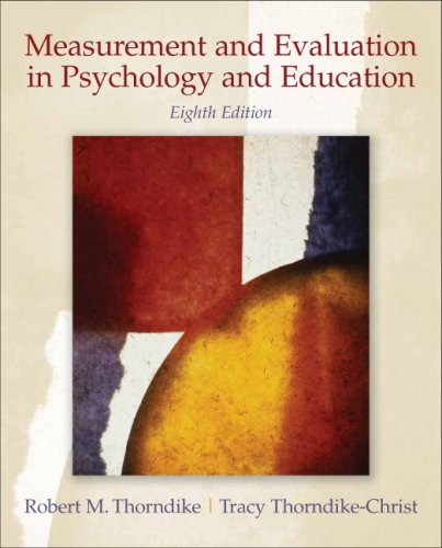 Measurement and Evaluation in Psychology and Education...