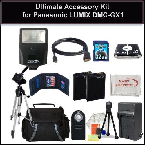 Advanced Accessory Package For Panasonic LUMIX DMC-GX1 GX1 Digital Camera
