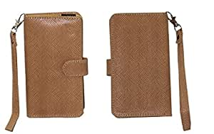 Jo Jo A9 Anya Leather Carry Case Cover Pouch Wallet Case For Lenovo Zuk Z1 Light Brown