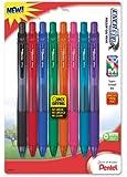 Pentel EnerGel-X Colors Retractable Liquid Gel Pen, 0.7mm,  Metal Tip, Assorted Ink Colors, Pack of 8  (BL107CRBP8M)