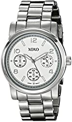 XOXO Women's XO0144 Silver-Tone Bracelet Analog Watch