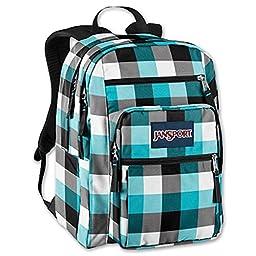 JanSport Big Student Back Pack (blue Plaid)