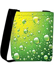 Snoogg Dew Drops Vector Background Womens Carry Around Cross Body Tote Handbag Sling Bags