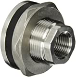 "Banjo TF050SS Stainless Steel 316 Bulkhead Tank Fitting, 1/2"" NPT Female"