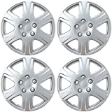 """BDK HK993 Toyota Corolla Style Hubcaps 15"""" Wheel Silver Replica Cover, 4 Pieces, 4 Pack"""