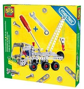 SES Creative Mectec Metal Construction Tow Truck Set