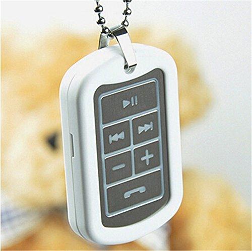 Generic Universal Bluetooth Stereo Headset Earphone Headphone Necklace (White)
