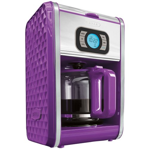 Bella BLA13926 Diamonds Programmable Coffee Maker, Purple