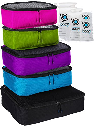 packing-cubes-5pcs-bago-value-set-for-travel-black-blue-purple-green-pink
