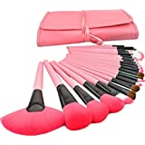 Kisstyle 24 Pcs Professional Cosmetic Makeup Brush Set Cosmetic Brush Set Kit_Pink
