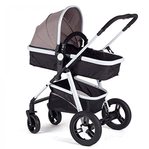 Baby-Vivo-Cochecito-de-Beb-Combinado-2-en-1-Marrn