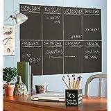 Atalanta® Durable Weekly Wall Planner Vinyl Chalkboard Sheet Wall Decal Blackboard Set of 8 with 1 White Color Liquid Chalk Marker