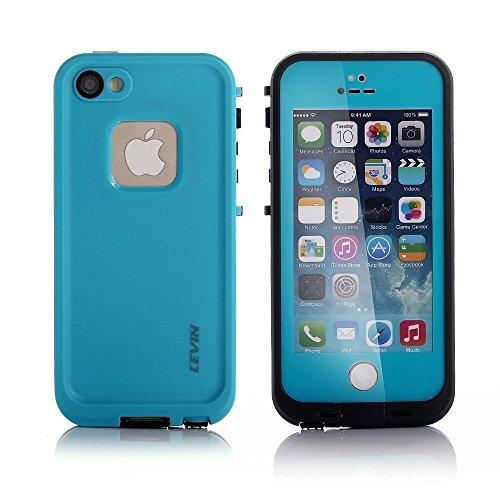 LEVIN iPhone 5 / 5S ケース アイフォン5 / 5Sケース 防水 耐衝撃 防水カバー 防じん 防雪 (ブルー)