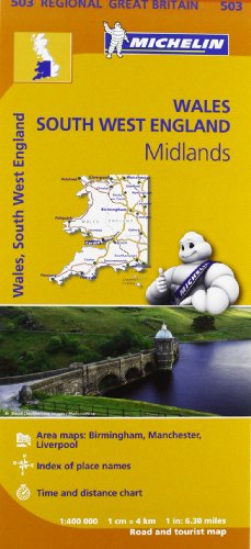 Mapa Regional Wales, South West England, Midlands (Carte regionali)