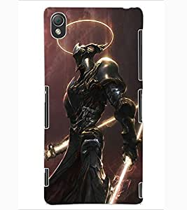 ColourCraft The Warrior Design Back Case Cover for SONY XPERIA Z3