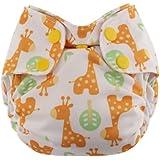 Swaddlebees Newborn Simplex All In One Diapers, Giraffe
