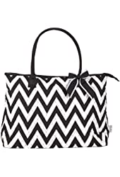 Ever Moda Quilted Designer Print Over Night Travel Tote - 21-Inch