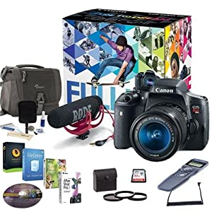Canon T6i Video Creator Kit w/EF-S 18-55mm f/3.5-5.6 IS STM Lens & VIDEOMIC, Filters, Remote Trigger