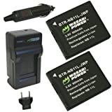 Wasabi Power Battery (2-Pack) and Charger for Canon NB-11L and Canon PowerShot A2300 IS, A2400 IS, A2500, A2600, A3400 IS, A3500 IS, A4000 IS, ELPH 110 HS, ELPH 115 HS, ELPH 130 HS, ELPH 320 HS, ELPH 340 HS