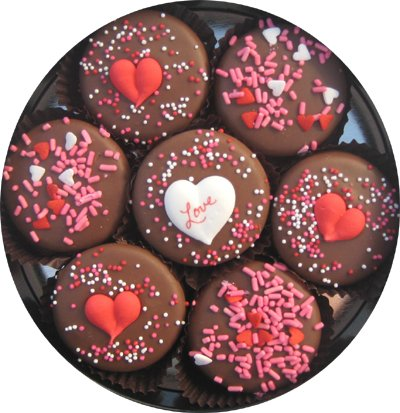 Chocolate Dipped Oreo Cookies decorated with Love 7 Oreo Assortment (Gourmet,Olde Naples Chocolate,Gourmet Food,Cookies)
