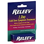 Releev Cold Sore Symptom Treatment, 1 Day, 0.20 oz (6 ml)