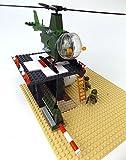 Modbrix 2331- ★ US ARMY VIETNAM Hubschrauber Basis mit OH-6 Cayuse Hubschrauber und custom US MARINES Soldaten aus original Lego© Teilen ★ - 4