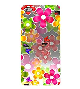 ANIMATED FLOWERS AND BUTTERFLIES DEPICTING THE BEAUTY OF NATURE 3D Hard Polycarbonate Designer Back Case Cover for Micromax Canvas Sliver 5 Q450::Micromax Canvas Silver 5