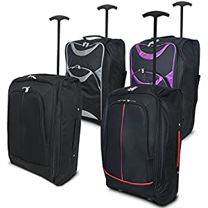 Babz LIGHTWEIGHT WHEELED BAG FLIGHT CABIN TROLLEY LUGGAGE SUITCASE