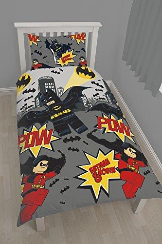 Pow copripiumino singolo Lego Batman-Set da letto, in policotone