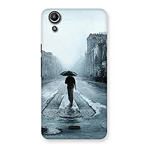 Beautiful Walking Rain Back Case Cover for Micromax Canvas Selfie Lens Q345
