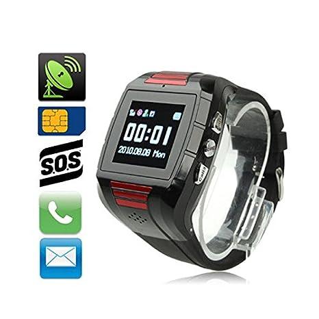 Bracelet GPS alerte SOS appel kit main libre localisation SMS noir