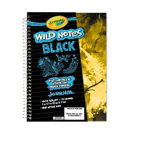 Crayola Wild Notes Black Journal - 1